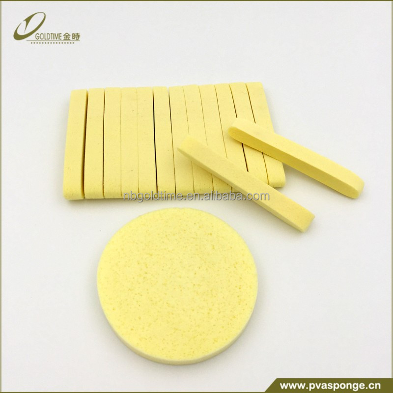 Compressed Salon Spa Facial Cleaning Sponge Sticks, Yellow/blue/green/pink/purple and other colors