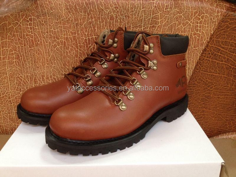 High Quality Genuine leather/Canvas Outdoor goodyear boots MENS