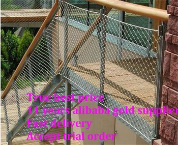 Decorative Stainless Steel Wire Rope Fence Mesh - Buy Flexible ...
