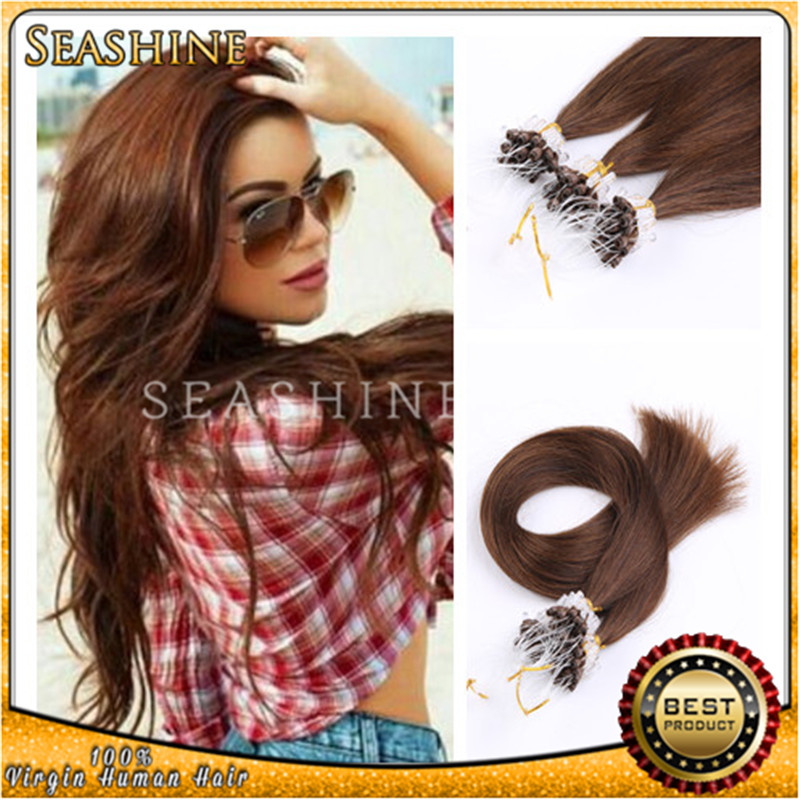 High Quality 100Pcs/Set 100g Easy Loop Micro Ring cheap human Hair Extensions 18 20 22 24Inch