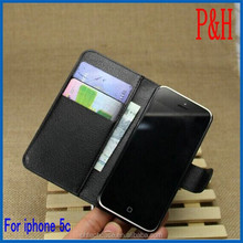 Hot products leather case for iphone 5C. leather cheap mobile phone case