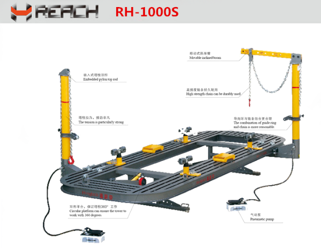 Car Straighting Bench/Auto Body Frame Machine/ Workshop Tools Equipment