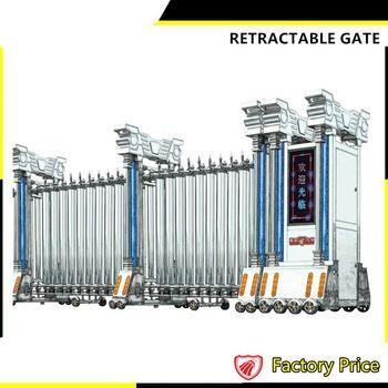 Driveway boundary wall gates railing stainless steel auto for Stainless steel driveway gates designs