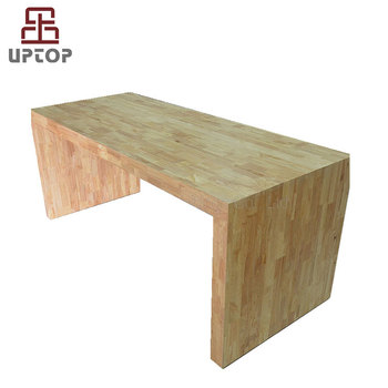 Sp T102 Rubber Wood Centered Steel Frame High Gloss Lacquer Dining Table