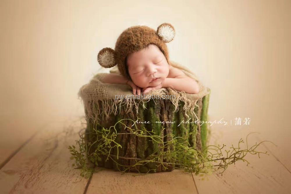 Newborn baby bark bowl baby wood basket newborn photography props baby girl boy basket bowl backdrop