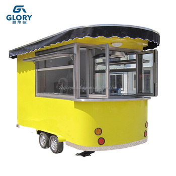 Modern Mobile Food Cart Sale Coffee Outdoor With Wheels