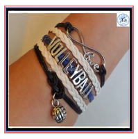 Fashion Volleyball Infinity love bracelet, Team gifts