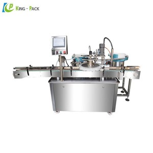 Automatic liquid soap filling machine with bottle arranging machine, pot filling machine for plastic