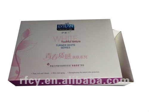 Youthful texture skin cosmetic packaging beauty box