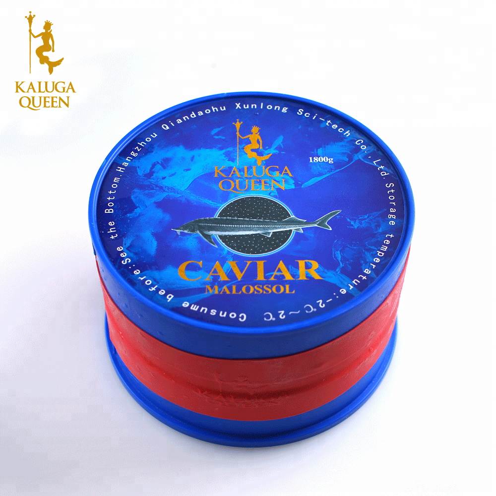 Instant Russian black fresh Sturgeon fish Caviar Malossal Imperial Royal