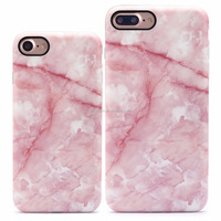 2016 newest mobile phone accessories for iPhone 7 TPU case , TPU phone case for iPhone 7 - Pink Marble