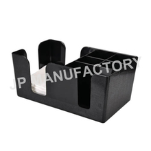 6 Compartment Black Plastic Bar Caddy