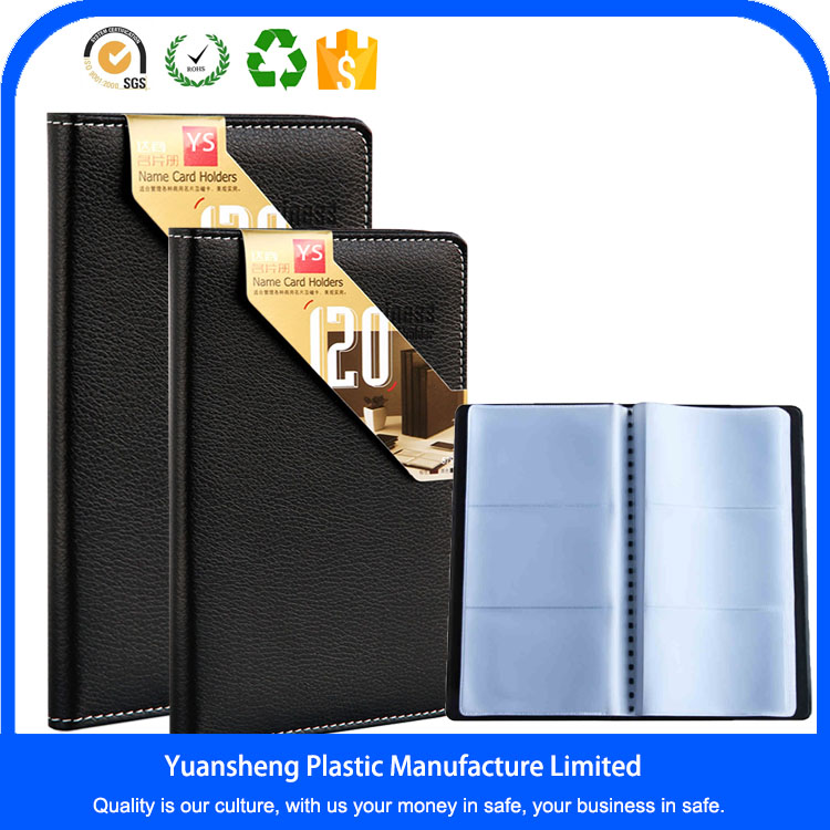 Low Moq Bulk Briefcase Business Card Holder With Plastic Sleeves ...