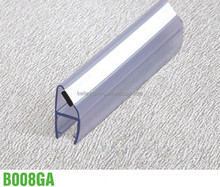 180 degree PVC magnetic glass door seal weather sealing strip with anti-water function for 6mm to 15mm glass