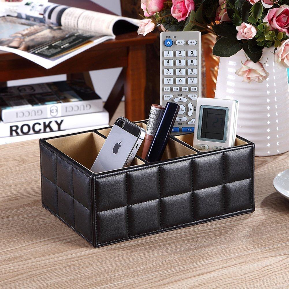 DE&GK Leather finish-box, Creative high-end storage box Desktop storage box-A