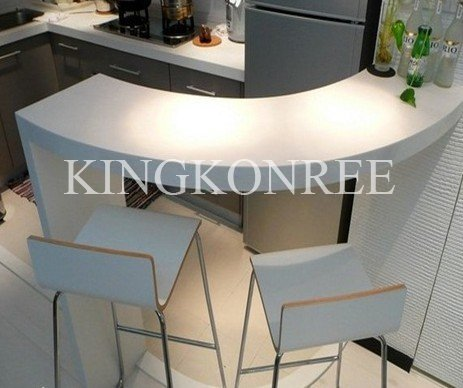 Creative men made custom acrylic solid surface bar counter,bar top