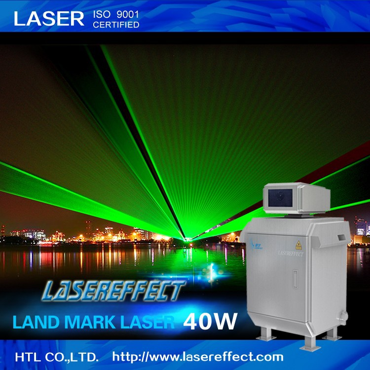 40W high-power green land mark laser light for outdoor advertising and lighting projects