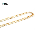 Metal Wallet Chain for Chains for Bags Wholesale Fashion Decorative Stainless Steel Gold Link Wallet Chain Flat Metal Bag Strap for Bag Hardware