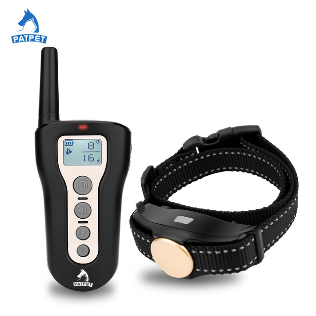 Patpet FCC certification dog training product electronic remote dog shock control collar for human
