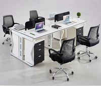 2017 new design office furniture workstation 4 person office workstation