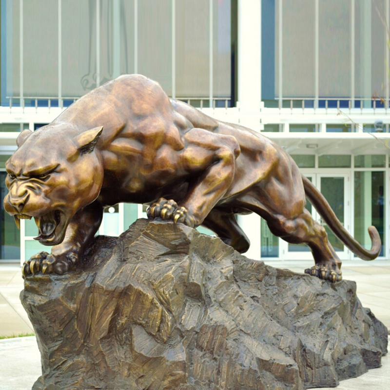 """Realistic Life Like 10/""""  Black Panther Statue African wildlife Sculpture NEW"""