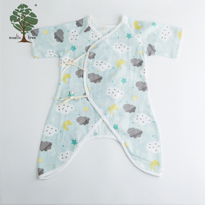 Muslin tree new design soft cotton custom plain baby romper
