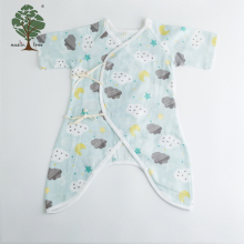 Muslin tree organic cotton baby clothes custom plain baby romper