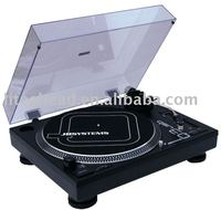 JBSYSTEMS USB Turntable With 3 Speed & Plastic Dust Cover Q3 USB