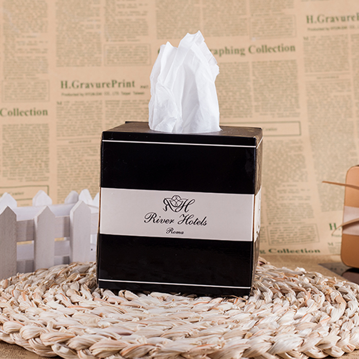 Hot selling new design hotel box facial tissue paper