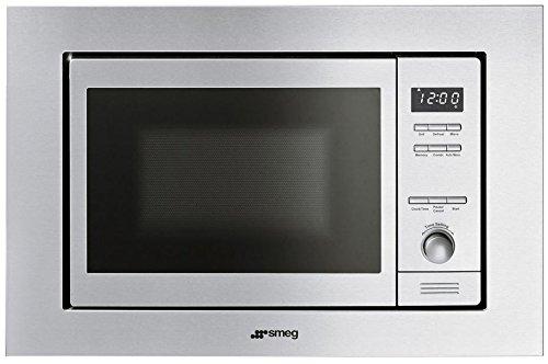 "Smeg MI20XU 24"" Built-In Microwave, Stainless Steel"