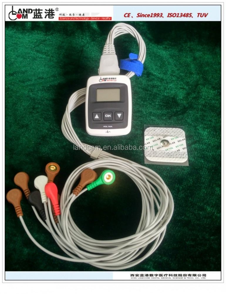 ambulatory or mobile holter ECG monitor 12 channel CE certified