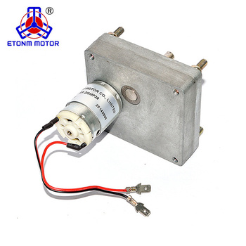 ETONM ET-ZGMP38 12v - 24v 1.2Nm - 8Nm 0.35rpm - 20.7rpm load Low Speed DC Gear Motor spur gear reduction Flat Gear Motor