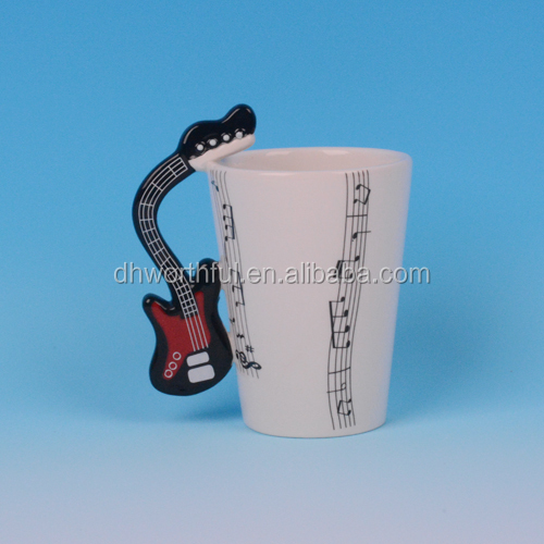 Beautiful ceramic Guitar cup