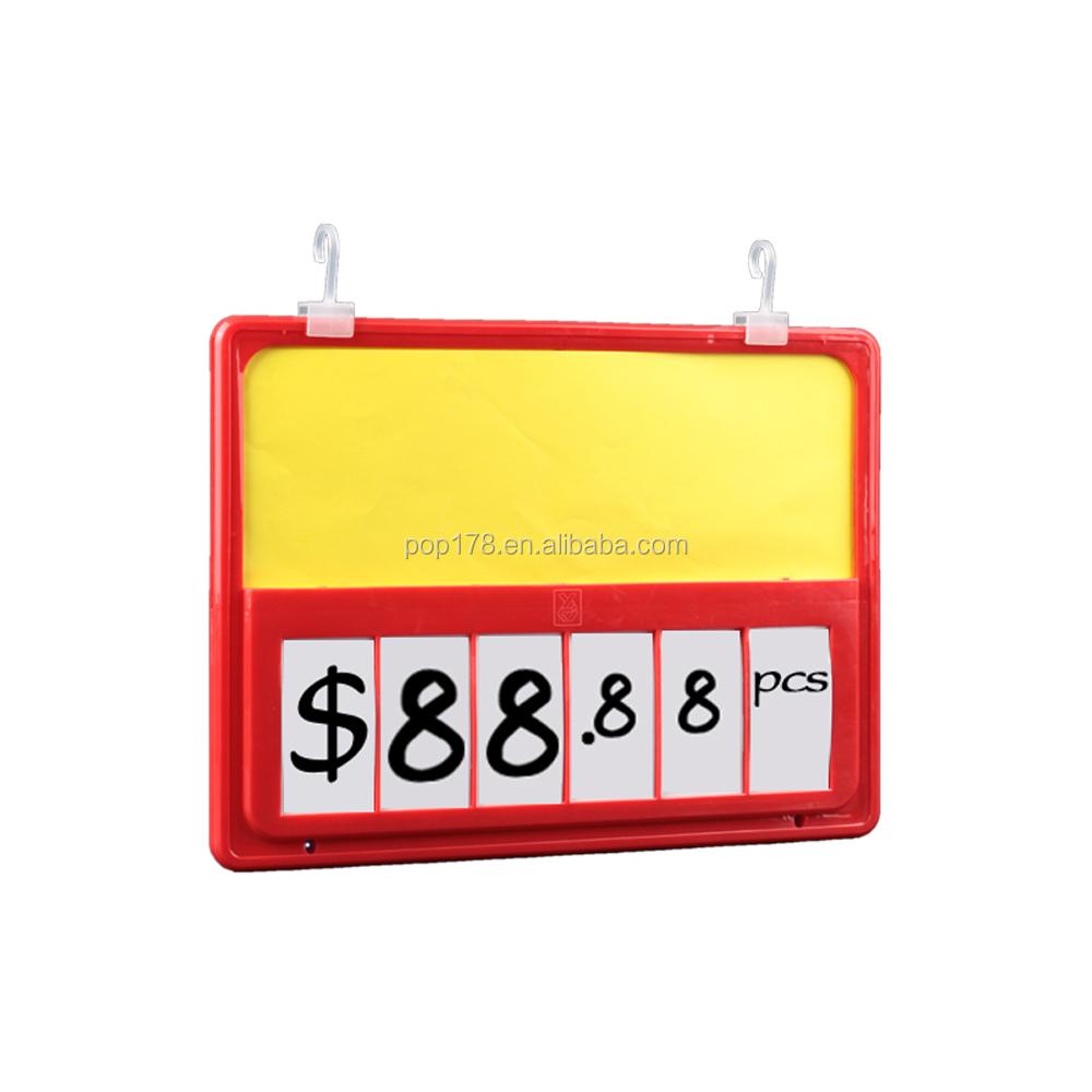 Plastic Supermarket Promotional Price Sign Boards Price