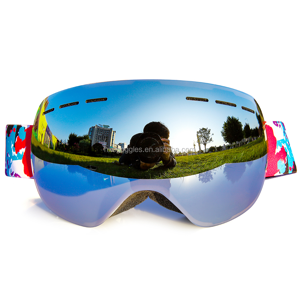 9ce962482d Guangzhou anti-fog rainbow frameless polarized ski snow goggles with dual  layer lens
