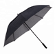 Popular use windproof rain straight custom logo automatic open double canopy vented golf umbrella for sale