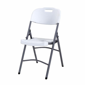 High Quality Wholesale Furniture HDPE Party Chair / Outdoor White Plastic Folding Chair