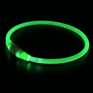 High visiblity cuttable size 360* Illumination glows and flashes led dog collar necklace for dogs safety