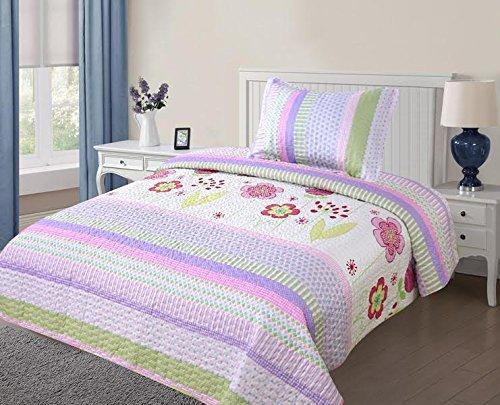 09df4cf5b2e2 Full Size Kids' Bedding Quilt Sets Elegant Home Cute Beautiful Girls  Mutlicolor Pink White Blue Purple Floral Owl ...