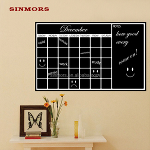 Chalk Writing Weekly Planner Calendar Blackboard Self Adhesive Kids Wall Stickers