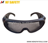 safety working glasses with mesh and wire mresh lens safety spectacles