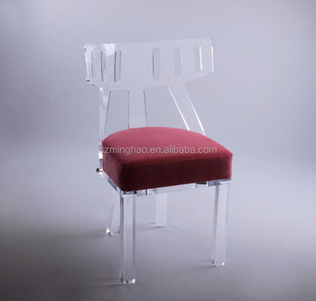 Acrylic Clear Chair With Cushion Lucite Dining Chair