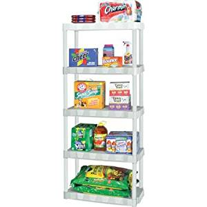 Get Quotations Plano Molding 5 Shelf Shelving Unit White