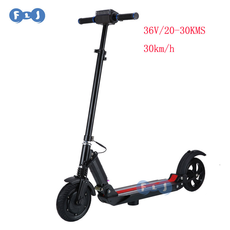 36V /350W Motors 8inch Wheel Foldable Electric Scooter with seat for adult, Black
