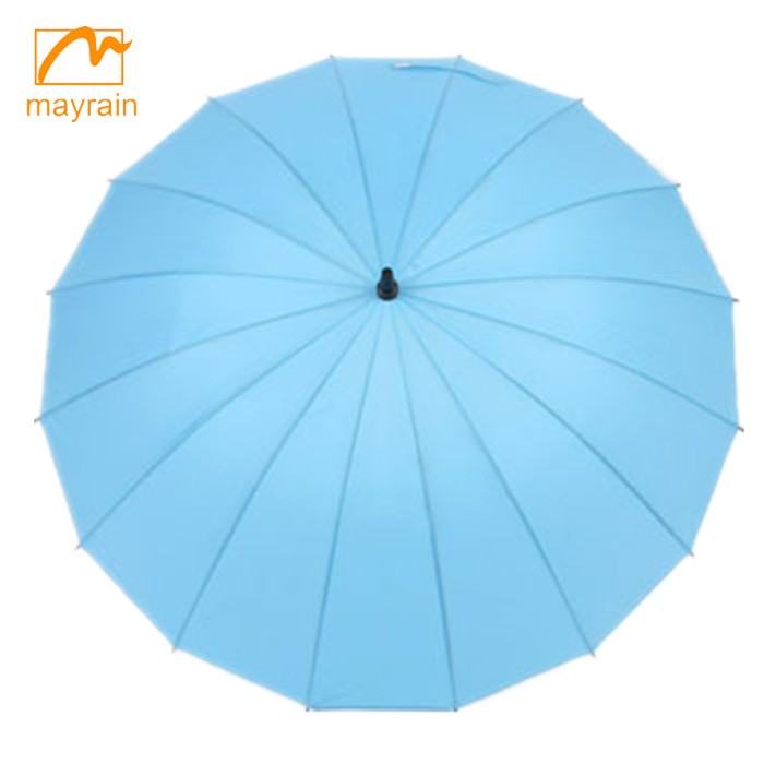 blue printing wine bottle umbrella