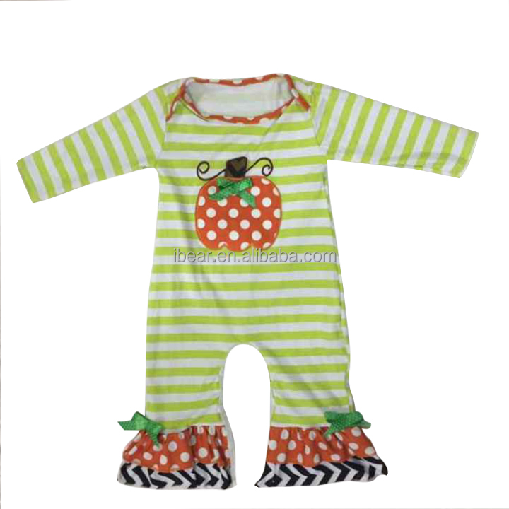 Pumpkin Applique Onesie The perfect festive holiday outfit for baby's first Halloween Boys Girls Baby Romper Kids Clothes