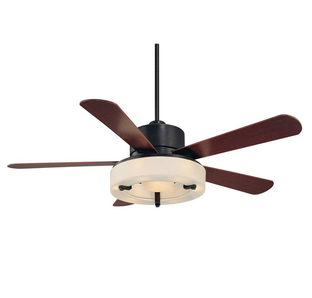 (USA Warehouse) Savoy House Olympic 1 Light Ceiling Fan in English Bronze W/Gold 56-765-5HK-213 -/PT# HF983-1754380116