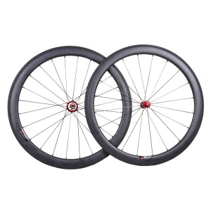 Carbon wheel bike 700c road bike wheelset 50mm carbon fiber wheels with Basalt Brake pad