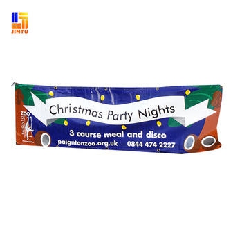 Custom Full Color Outdoor Christmas Hanging Fabric Banners View Christmas Fabric Banners Jintu Product Details From Shanghai Jintu Banner Print Co