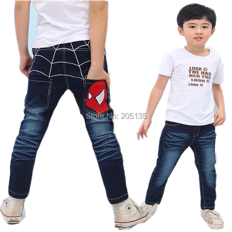 e03238eda Get Quotations · 2014 New baby Jeans Kids Spider man boys jeans Spring  Autumn Denim jeans toddler kids pants
